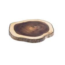 Platou lemn pentru servire, cu scoarță