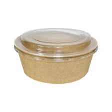Bol salată din carton și capac