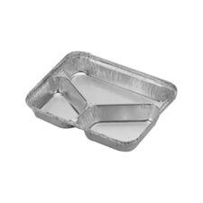 Caserolă aluminiu compartimentată