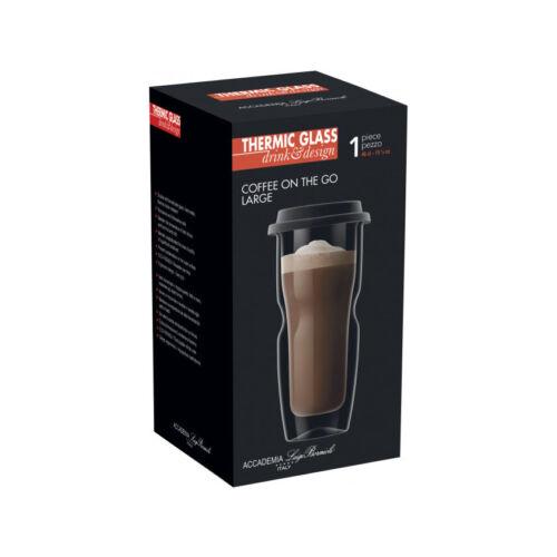 Pahar cu capac pentru cafea Thermic Glass